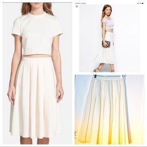 Vintage Skirts - Vintage Cream Pleated Midi Skirt 🌸